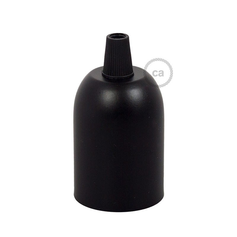 matt-black-painted-cup-e27-lamp-holder-1-transparent-cable-gland